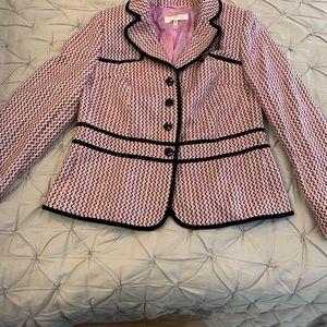 Escada Blazer pink and black tweed